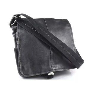 Coach Messenger Transatlantic Bag Black Leather